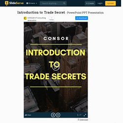 Introduction to Trade Secret PowerPoint Presentation, free download - ID:9905964