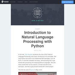 Introduction to Natural Language Processing with Python