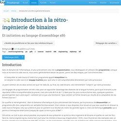 Introduction à la rétro-ingénierie de binaires