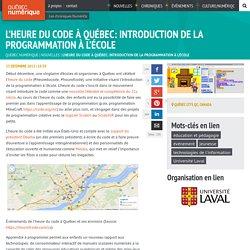 L'heure du code à Québec: introduction de la programmation à l'école