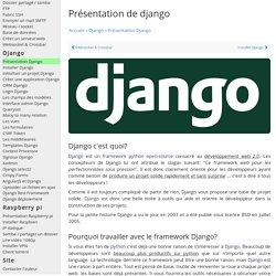 introduction django - Python Programmation Cours Tutoriel Informatique Apprendre