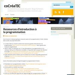 Ressources d'introduction à la programmation