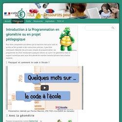 Introduction à la Programmation en géométrie ou en projet pédagogique - TICE 14 - Ressources pour les TUIC