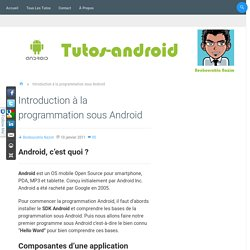 Introduction à la programmation sous Android