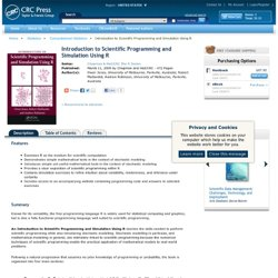 CRC Press Online - Book: Introduction to Scientific Programming and Simulation Using R