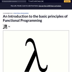An Introduction to the basic principles of Functional Programming