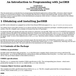 An Introduction to Programming with JacORB