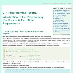 An Introduction to C++ Programming for First-time Programmers - C++ Programming Tutorial