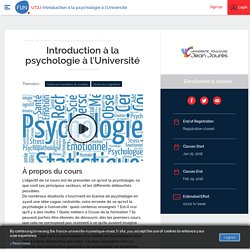 Introduction à la psychologie à l'Université