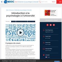 MOOC : Introduction à la psychologie à l'Université, cliquez pour accéder au mooc, début du cours : 7 janvier 2019