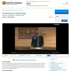Introduction to Psychology Online Course, Yale Psychology, Paul Bloom