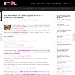 #RPS Introduction aux risques #psychosociaux et à la démarche de #prévention