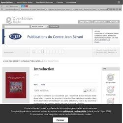 Le luxe privé à Rome et en Italie au Ier siècle après J.-C. - Introduction - Publications du Centre Jean Bérard