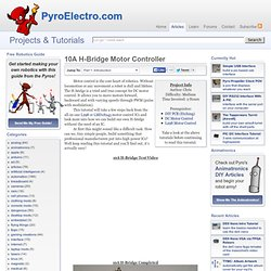10A H-Bridge Motor Controller - Introduction