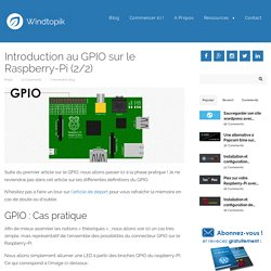Introduction au GPIO sur le Raspberry-Pi (1/2)