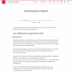 Introduction à ReactJS