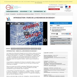 Introduction : Faire de la recherche en design ? - Eco-gestion