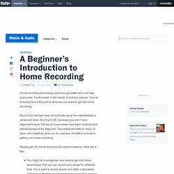 A Beginner's Introduction to Home Recording