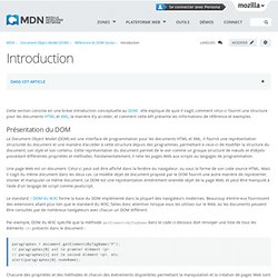 Introduction - Référence du DOM Gecko