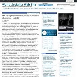 Dix ans après l'introduction de la réforme allemande Hartz IV
