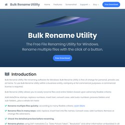 Introduction - Bulk Rename Utility