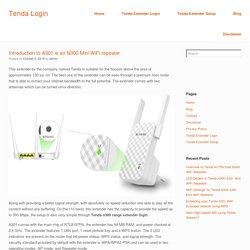 Introduction to A301 is an N300 Mini WiFi repeater Tenda n300 range extender login