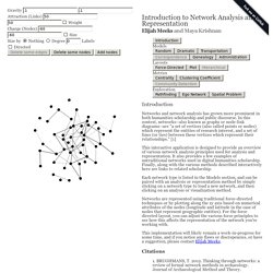 An Interactive Introduction to Network Analysis and Representation