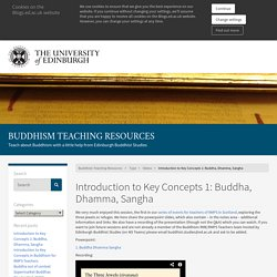Introduction to Key Concepts 1: Buddha, Dhamma, Sangha – Buddhism Teaching Resources
