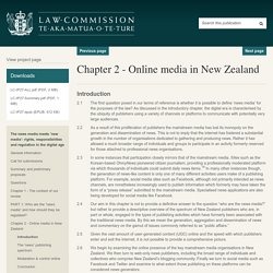 Introduction - Law Commission Issues Paper 27 - The news media meets 'new media': rights, responsibilities and regulation in the digital age