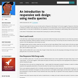 That Web Guy - An introduction to responsive web design: using media queries