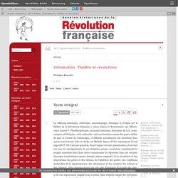 Introduction. Théâtre et révolutions