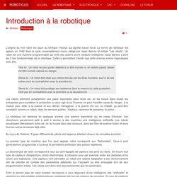 Introduction à la robotique