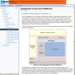 'Introduction to the S110 SoftDevice'