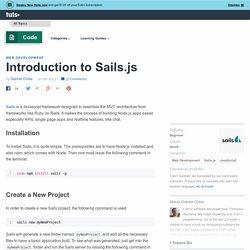 Introduction to Sails.js