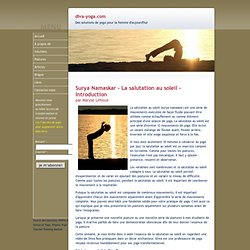 Yoga - Une introduction à la salutation au soleil (surya namaskar)