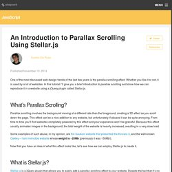 An Introduction to Parallax Scrolling Using Stellar.js
