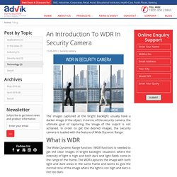 An Introduction To WDR In Security Camera
