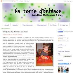 En terre d'enfance: Introduction aux activités sensorielles