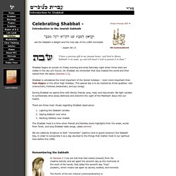 Introduction to Shabbat