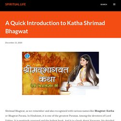 A Quick Introduction to Katha Shrimad Bhagwat