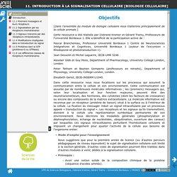 11. Introduction à la signalisation cellulaire [biologie cellulaire] - Objectifs