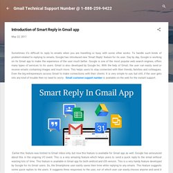 Introduction of Smart Reply in Gmail app