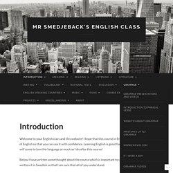 Mr Smedjeback's English Class