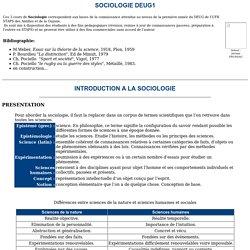 INTRODUCTION A LA SOCIOLOGIE (cours 1er niveau)