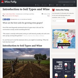 Introduction to Soil Types and Wine