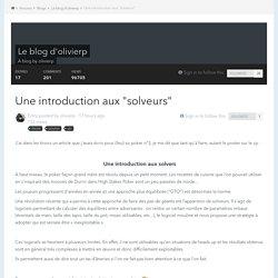 """Une introduction aux """"solveurs"""" - Le blog d'olivierp"""