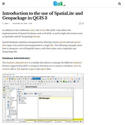 Introduction to the use of SpatiaLite and Geopackage in QGIS 3 – GeoGeek