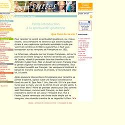 Petite introduction à la spiritualité ignatienne