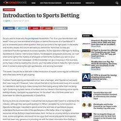 Introduction to Sports Betting - Corner Bookie