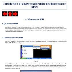 Introduction à SPSS